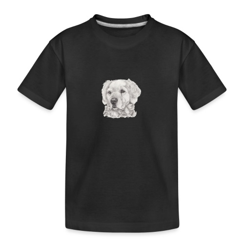 golden retriever - Teenager premium T-shirt økologisk