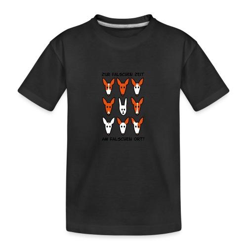 Zur falschen Zeit, am falschen Ort - Teenager Premium Bio T-Shirt
