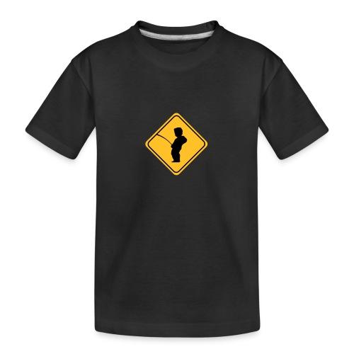 Manneken Pis sign - T-shirt bio Premium Ado