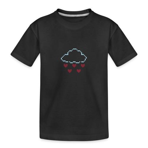 Wolke Pixelherz - Teenager Premium Bio T-Shirt