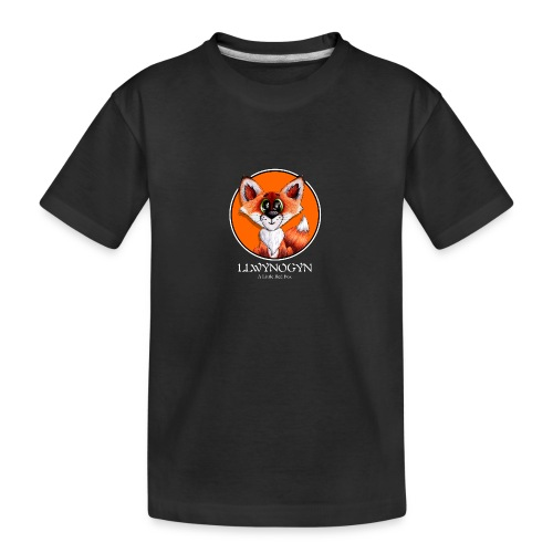 llwynogyn - a little red fox (white) - Teinien premium luomu-t-paita