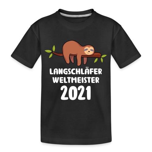 Faultier Spruch Schlafen Schlafshirt Geschenk - Teenager Premium Bio T-Shirt