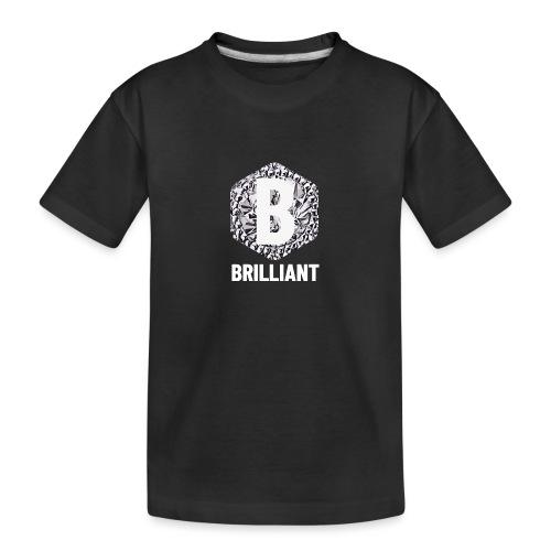 B brilliant white - Teenager premium biologisch T-shirt