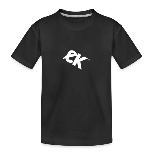 EK logo blanc # 1 - T-shirt bio Premium Ado