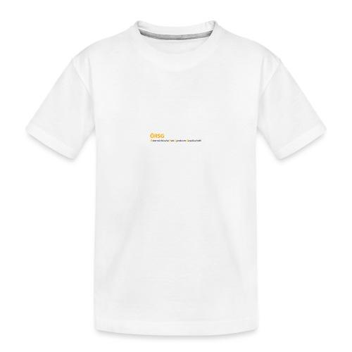 Text-Logo der ÖRSG - Rett Syndrom Österreich - Teenager Premium Bio T-Shirt