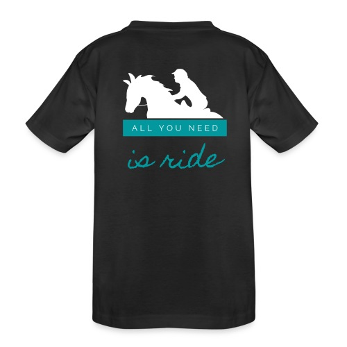 Logo All you need is Ride Bleu Boy - T-shirt bio Premium Ado