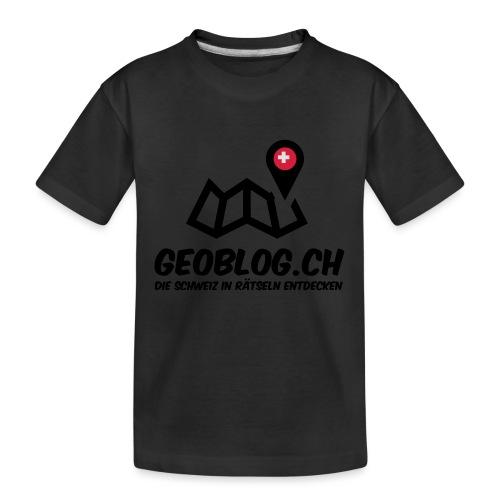 Logo+Schriftzug-hoch - Teenager Premium Bio T-Shirt