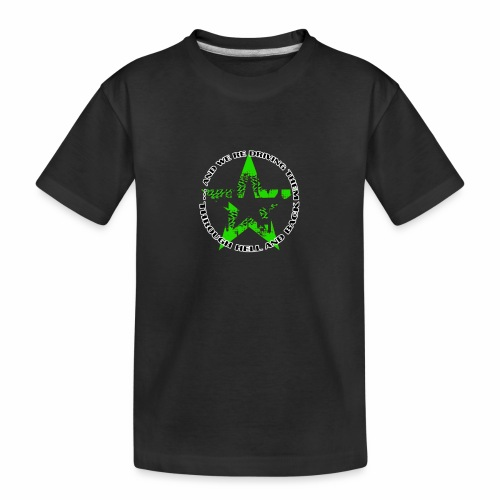 ra star slogan slime png - Teenager Premium Bio T-Shirt