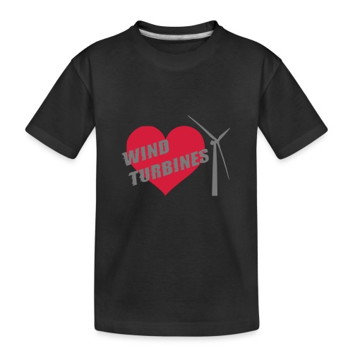 wind turbine grey - Teenager Premium Organic T-Shirt