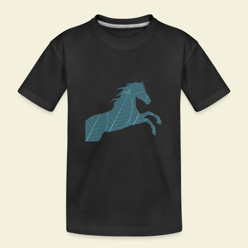 Cheval feuille - T-shirt bio Premium Ado