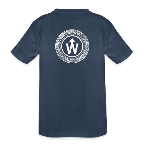 wit logo transparante achtergrond - Teenager premium biologisch T-shirt