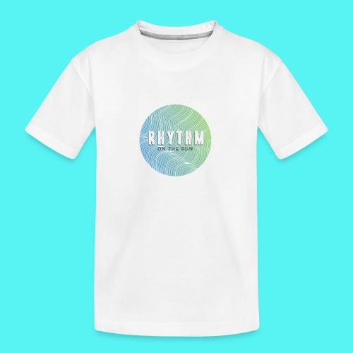 Rhythm On The Run Logo - Teenager Premium Organic T-Shirt