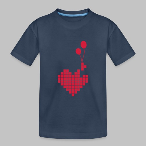 heart and balloons - Teenager Premium Organic T-Shirt