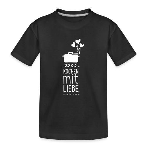 kochen mit liebe v2 (1c) - Teenager Premium Bio T-Shirt