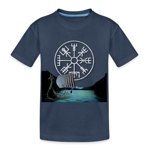 Vegvisir nave vichinga - Maglietta ecologica premium per ragazzi