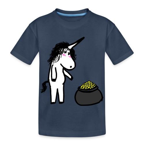 Oro unicorno - Maglietta ecologica premium per ragazzi