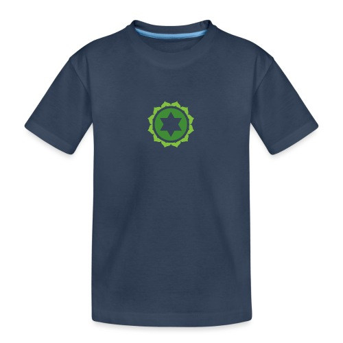 The Heart Chakra, Energy Center Of The Body - Teenager Premium Organic T-Shirt