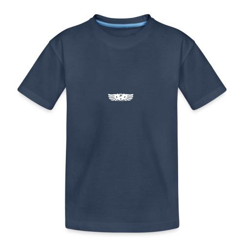LOGO wit goed png - Teenager premium biologisch T-shirt