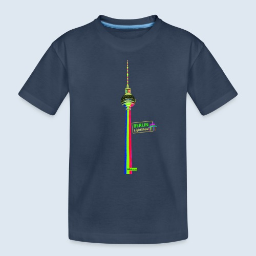 "Berliner Original ""Fernsehturm"" PopArt Design - Teenager Premium Bio T-Shirt"