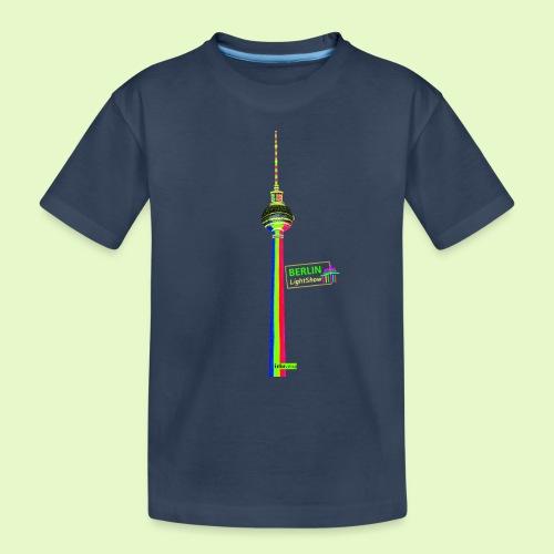 Fernsehturm PopArt BerlinLightShow - Teenager Premium Bio T-Shirt