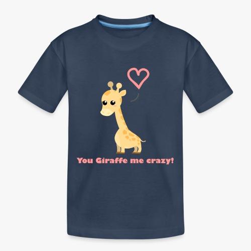 Giraffe Me Crazy - Teenager premium T-shirt økologisk
