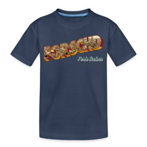 Forschd - Perle Badens - Vintage-Logo mit Luftbild - Teenager Premium Bio T-Shirt