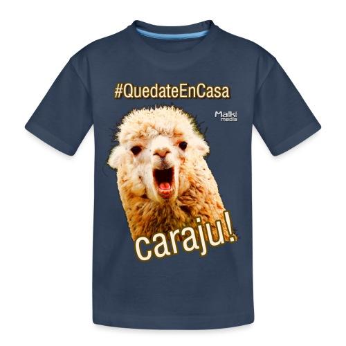 Quedate En Casa Caraju - Camiseta orgánica premium adolescente