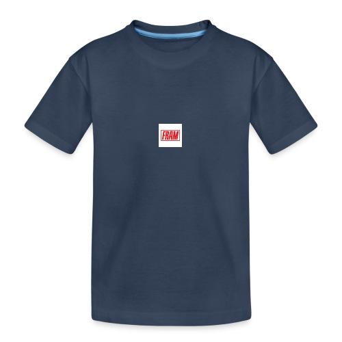 LogoSample ByTailorBrands - Teenager premium biologisch T-shirt
