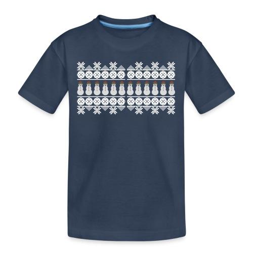 Ugly Christmas Weihnachten Xmas Norweger Design - Teenager Premium Bio T-Shirt