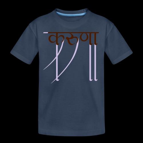 mitgefühl - Teenager Premium Bio T-Shirt