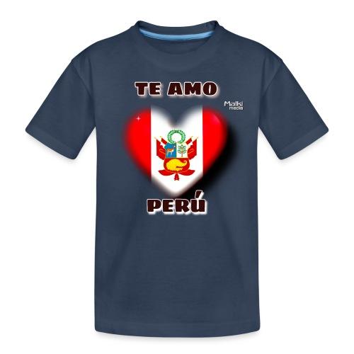 Te Amo Peru Corazon - Camiseta orgánica premium adolescente