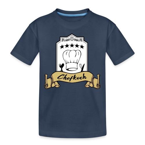 Chefkoch leidenschaftlicher und überzeugter Koch - Teenager Premium Bio T-Shirt