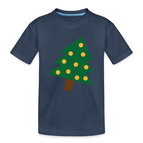 Weihnachtsbaum gold grün - XMAS - Merry Christmas - Teenager Premium Bio T-Shirt