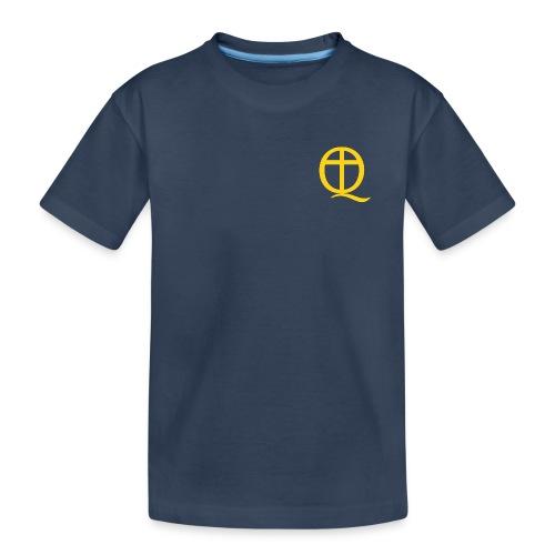 QC Gul - Ekologisk premium-T-shirt tonåring