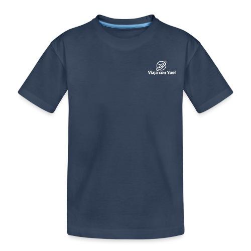 Viaja con Yoel White Logo - Camiseta orgánica premium adolescente