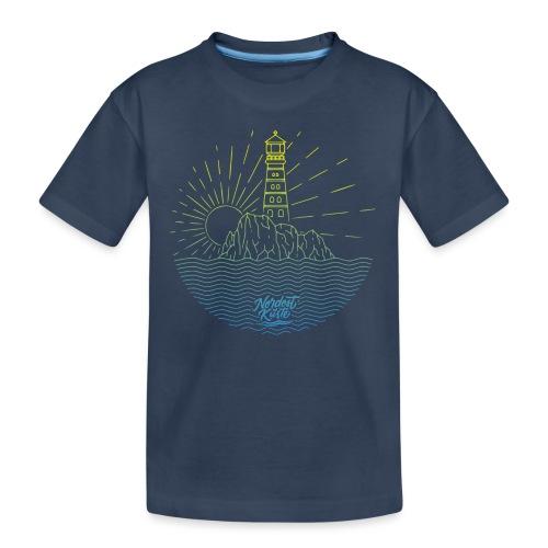 Leuchtturm mit Sonne am Meer - Teenager Premium Bio T-Shirt