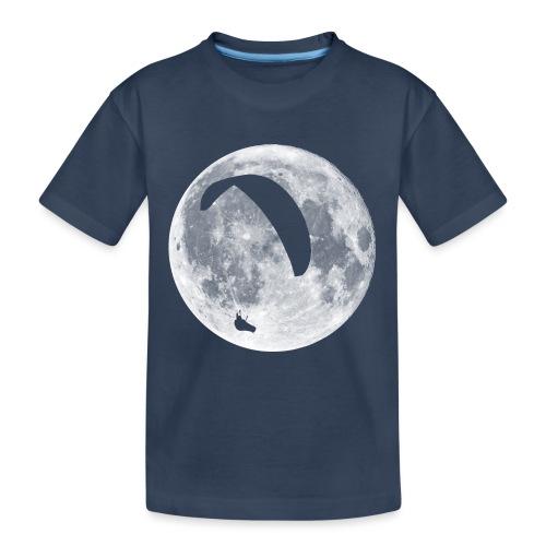 Paragleiter im Mond - Teenager Premium Bio T-Shirt