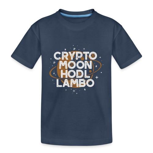 Crypto Moon Hodl Lambo - Maglietta ecologica premium per ragazzi