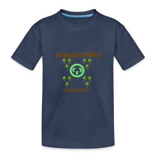 My world - Camiseta orgánica premium adolescente