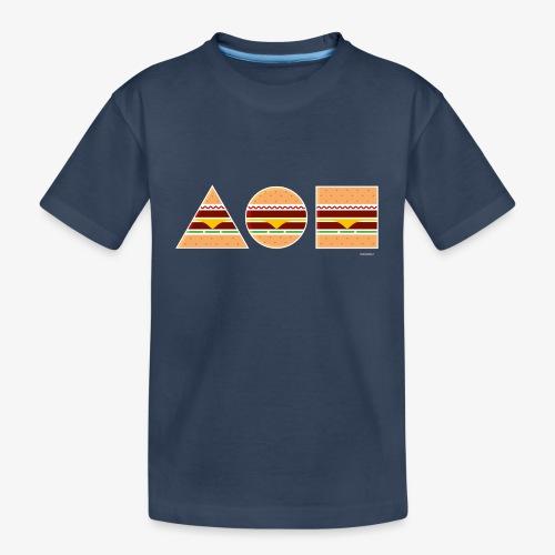 Graphic Burgers - Maglietta ecologica premium per ragazzi
