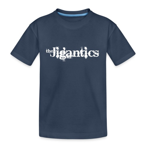 The Jigantics - white logo - Teenager Premium Organic T-Shirt