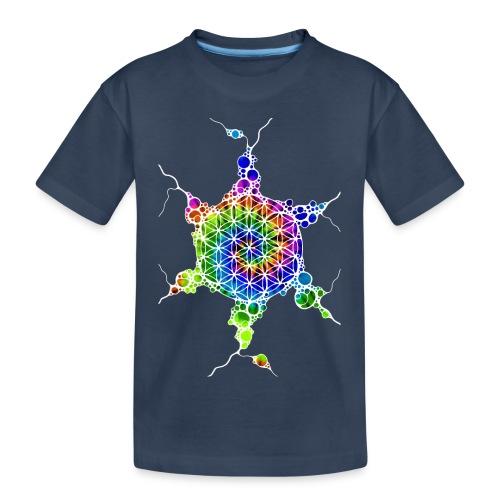 Flower Of Life Neuro Art 4 - Teenager Premium Bio T-Shirt