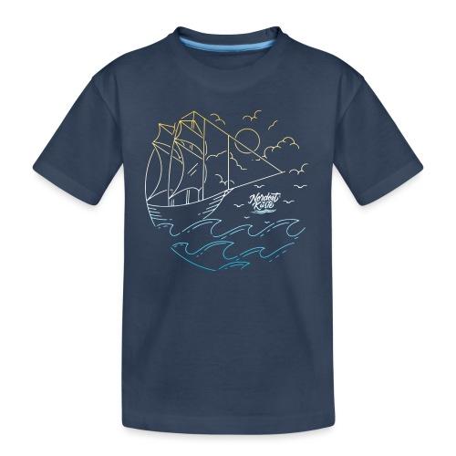 Schiff mit Sonne und Meer - Teenager Premium Bio T-Shirt
