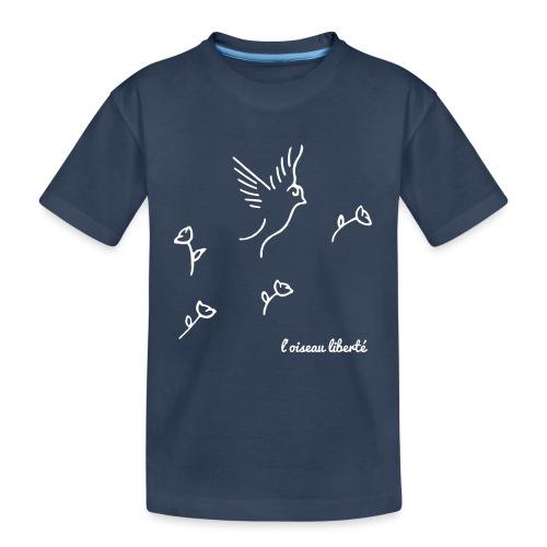 L'oiseau liberté (version light) - T-shirt bio Premium Ado