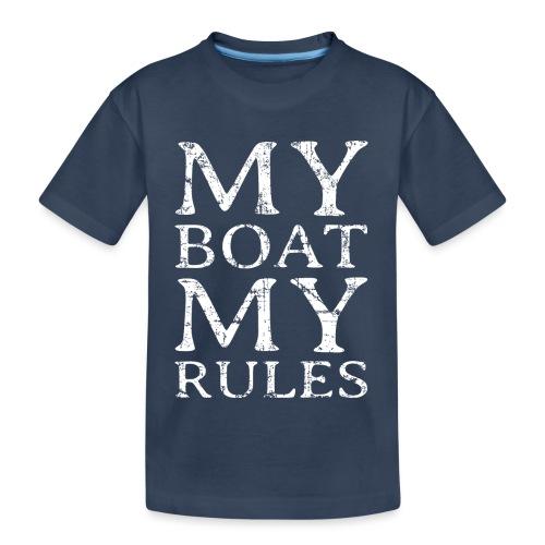 My Boat my Rules Segelspruch für Skipper - Teenager Premium Bio T-Shirt