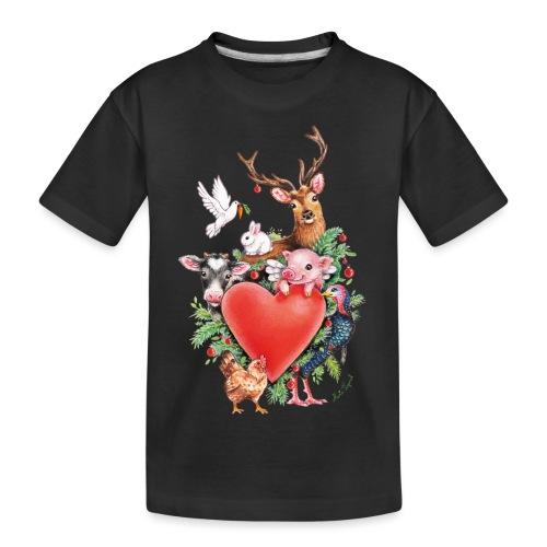 Christmas heart by Maria Tiqwah - Teenager Premium Organic T-Shirt
