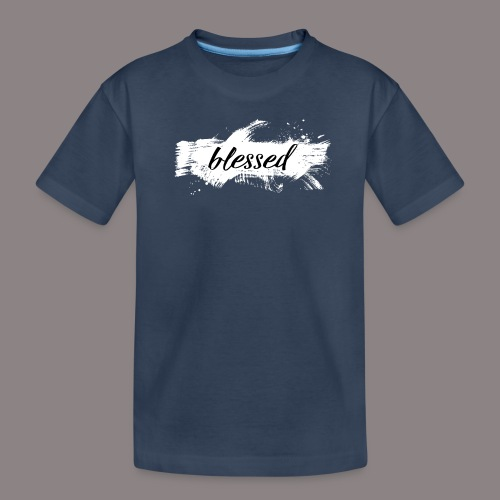 blessed spot ladies weiss - Teenager Premium Bio T-Shirt