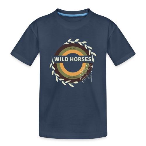 Wild Horses - Teenager premium biologisch T-shirt