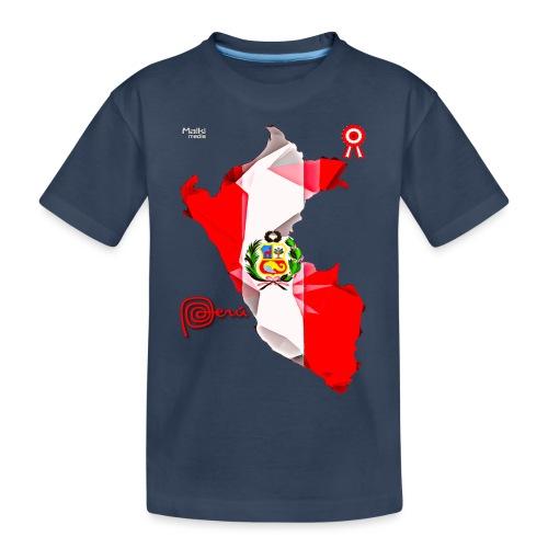 Mapa del Perú, Bandera y Escarapela - Camiseta orgánica premium adolescente