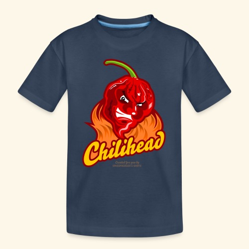 Chili Design Cartoon Chilihead | Grill T-Shirts - Teenager Premium Bio T-Shirt
